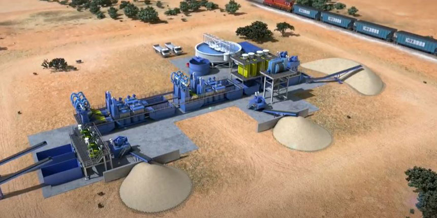 VRX's proposed silica sand processing facility.