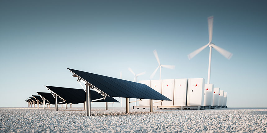 Solar, wind and battery power