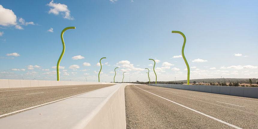 North Link road sculptures