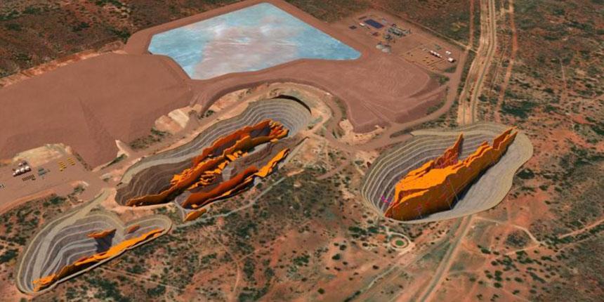 Gold mine pits